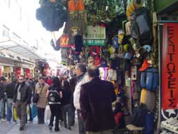 shopping street in Monastiraki