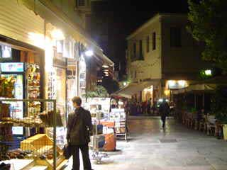 night shopping in plaka
