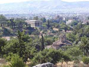 Picture of Thission, Hephaestus temple as seen fromthe Acropolis